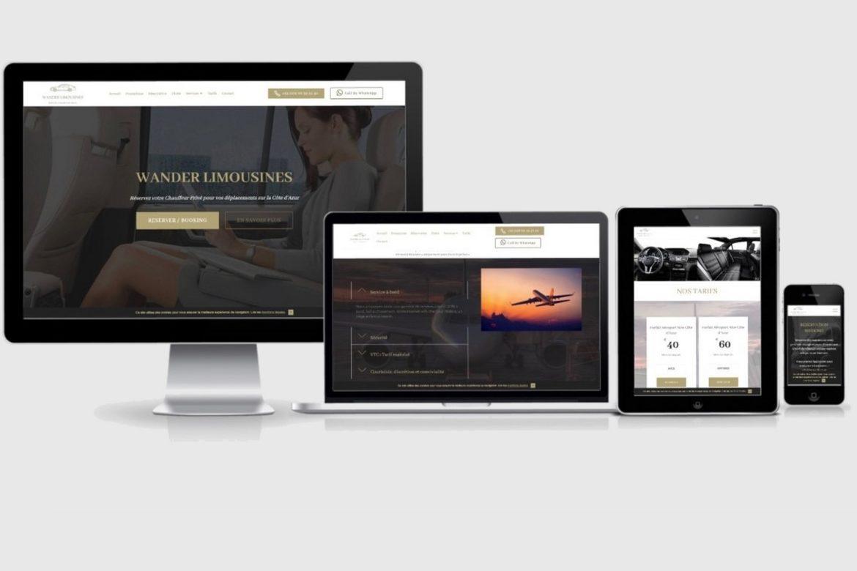 création de site internet pour chauffeur privé VTC uber