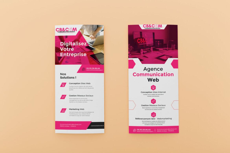 Flyer CB&COM Agence de com Agence de Communication - Agence de Com - Agence Web - Agence de pub