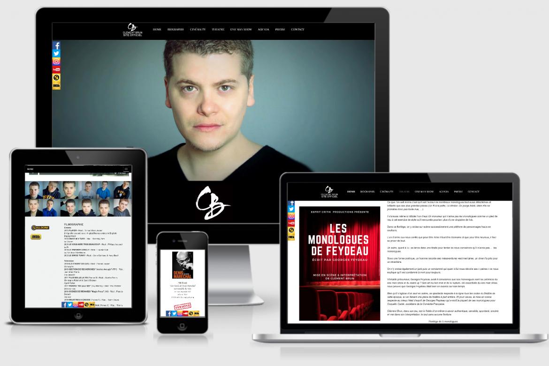 modèle de site internet pour artiste responsive