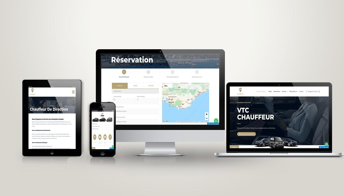 site internet pour VTC et Taxi