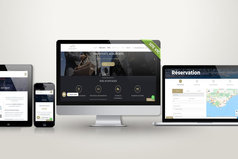 Création de site internet Chauffeur Privé VTC avec module de réservation