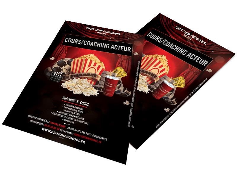 Coaching Acteurs Cinéma création de visuels