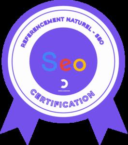 Nous sommes certifié en référencement Naturel SEO