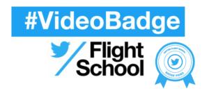 Badge vidéo Twitter Flyght School